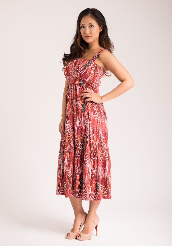 Année Matthew Alana Tiered Nursing Dress